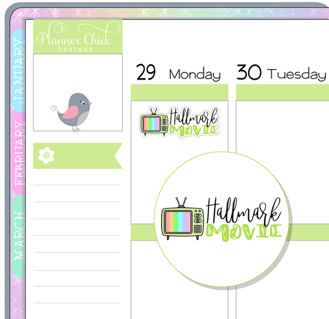 Hallmark Movie Planner Stickers