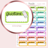 Facetime Planner Stickers