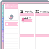 Phone Call Planner Stickers