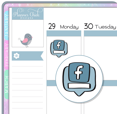 Facebook Planner Stickers