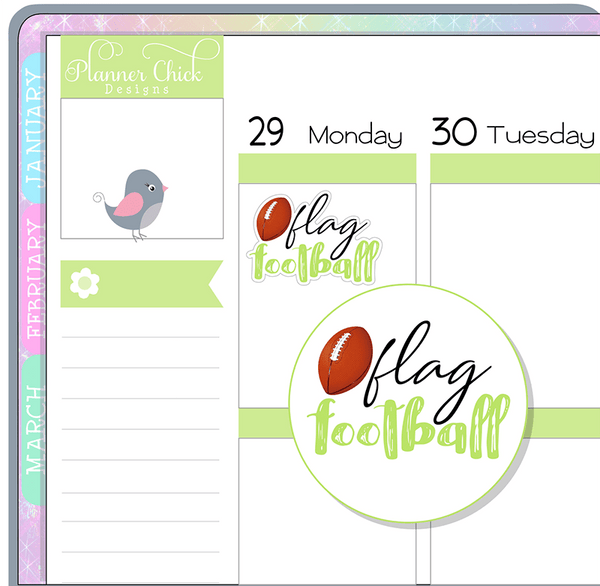 Flag Football Planner Stickers