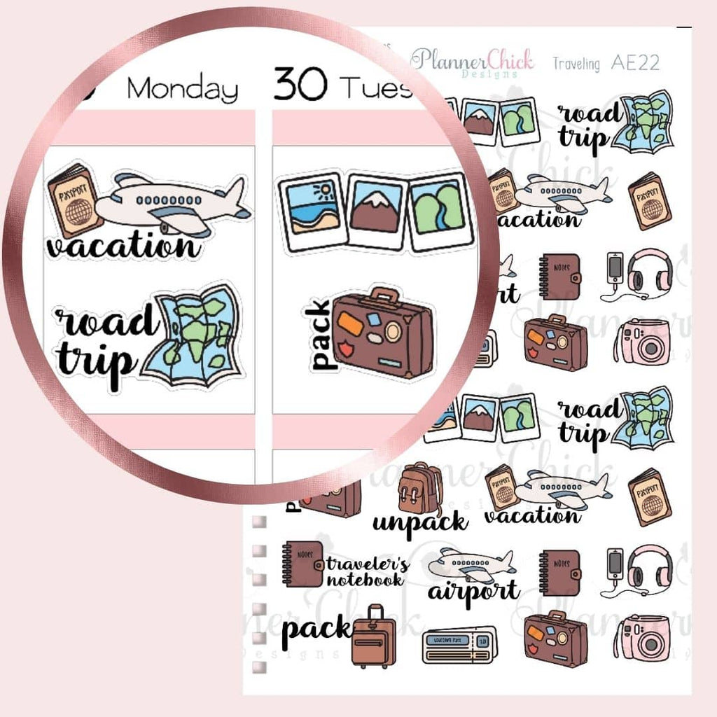 Travel Sampler Planner Stickers
