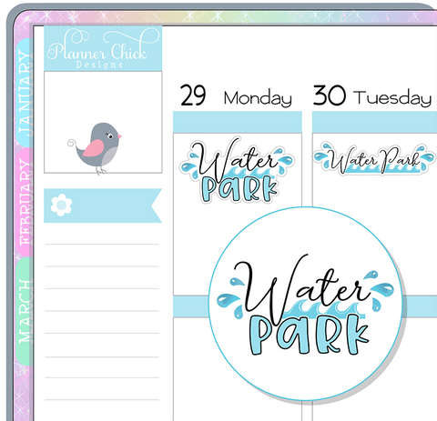 Water Park Planner Stickers