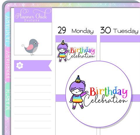 Doodle Girl ~ Birthday Celebration