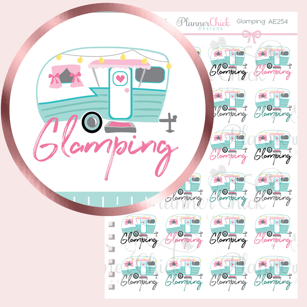 Glamping Planner Stickers