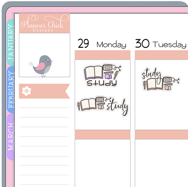 Doodle Study Planner Stickers