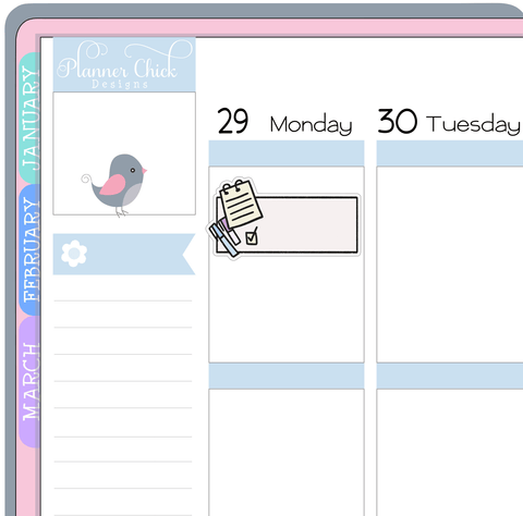 Important Task Planner Stickers