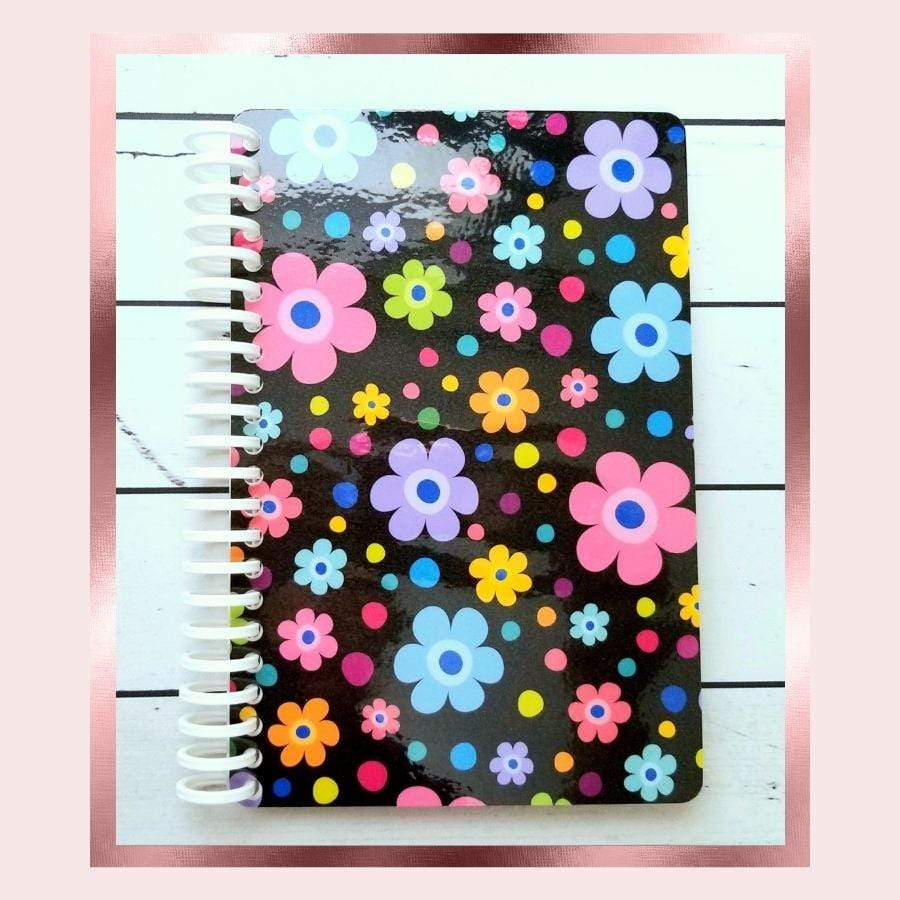Black Floral Sticker Book