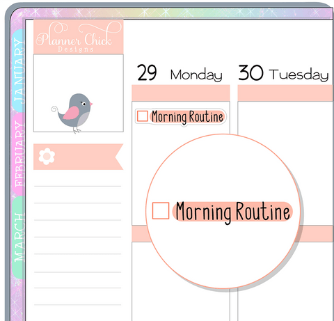 Morning Routine Planner Stickers