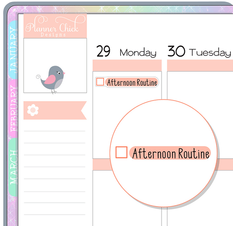 Afternoon Routine Planner Stickers