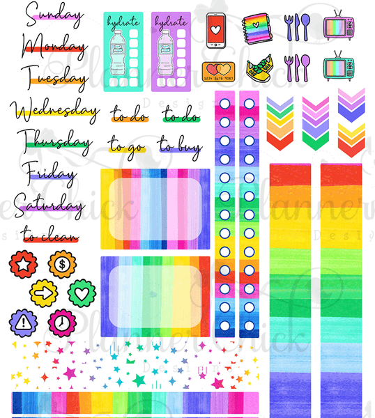 Rainbow Brite ~ Two-Day Mini Kit for Daily Duo