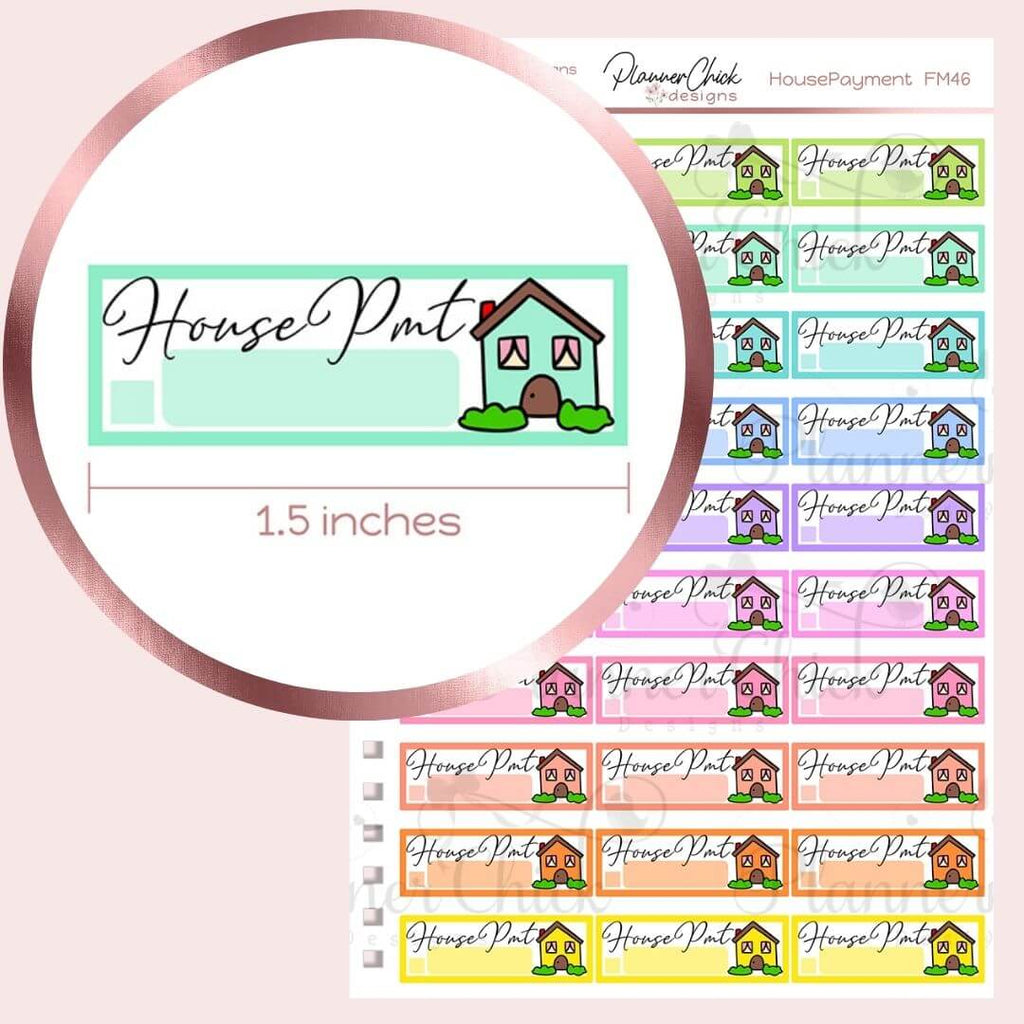 House Payment Planner Stickers
