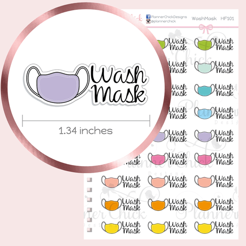 Wash Mask Planner Stickers
