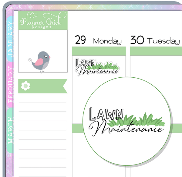 Lawn Maintenance Planner Stickers