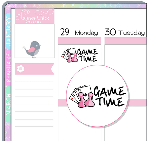 Game Time Planner Stickers