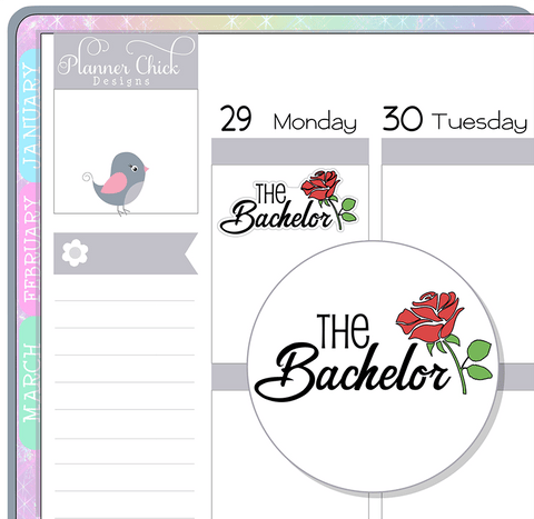 The Bachelor Planner Stickers