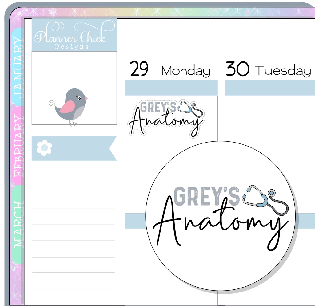 Grey's Anatomy Planner Stickers
