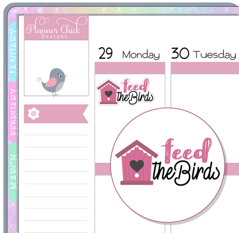 Feed the Birds Planner Stickers