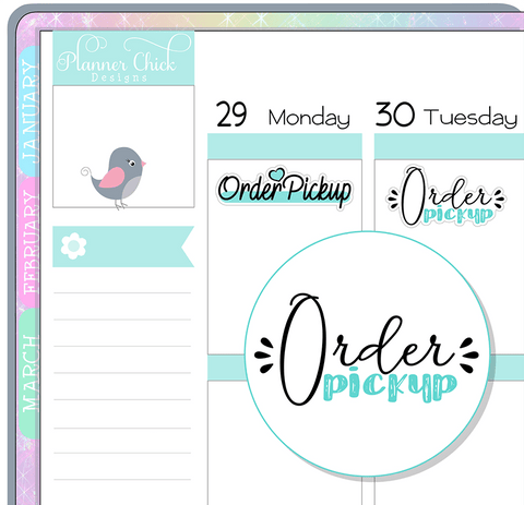 Order Pickup Planner Stickers