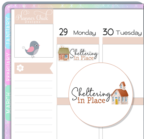 Sheltering in Place Planner Stickers