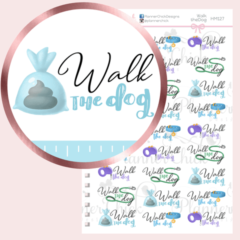 Walk the Dog Planner Stickers