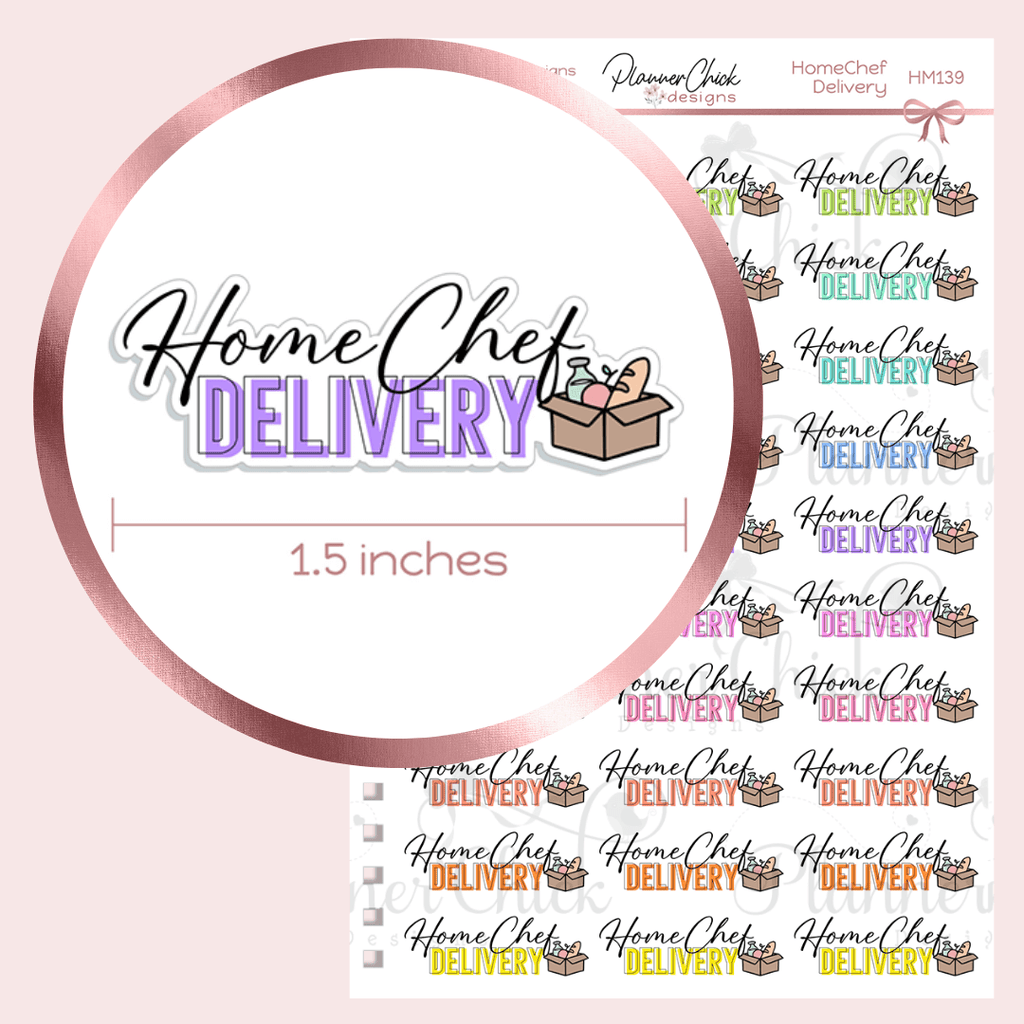 Home Chef Planner Stickers