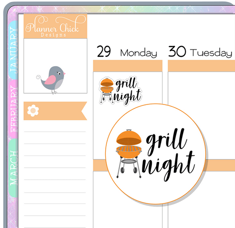 Grill Night Planner Stickers