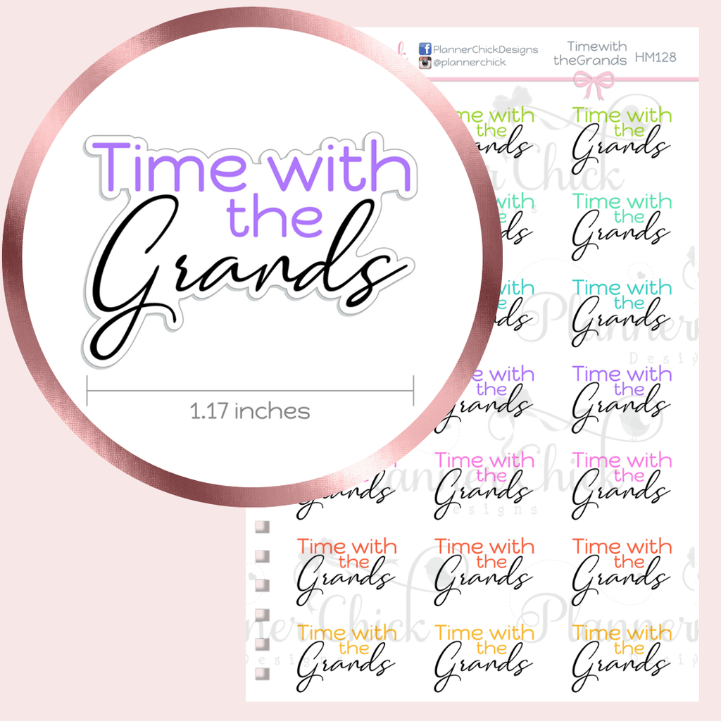 Time with the Grands Planner Stickers