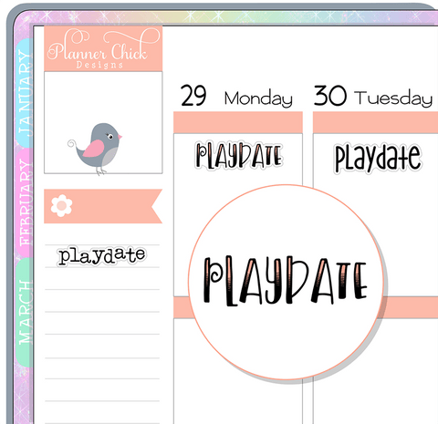 Playdate Planner Stickers