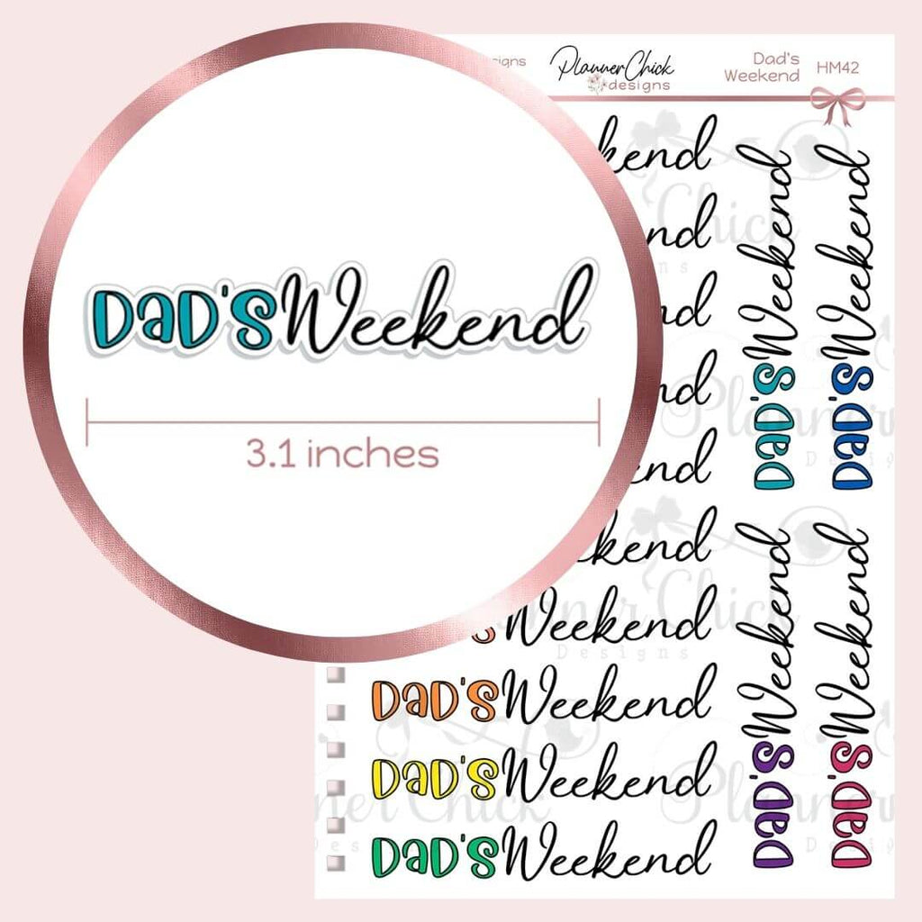 Dad's Weekend Planner Stickers