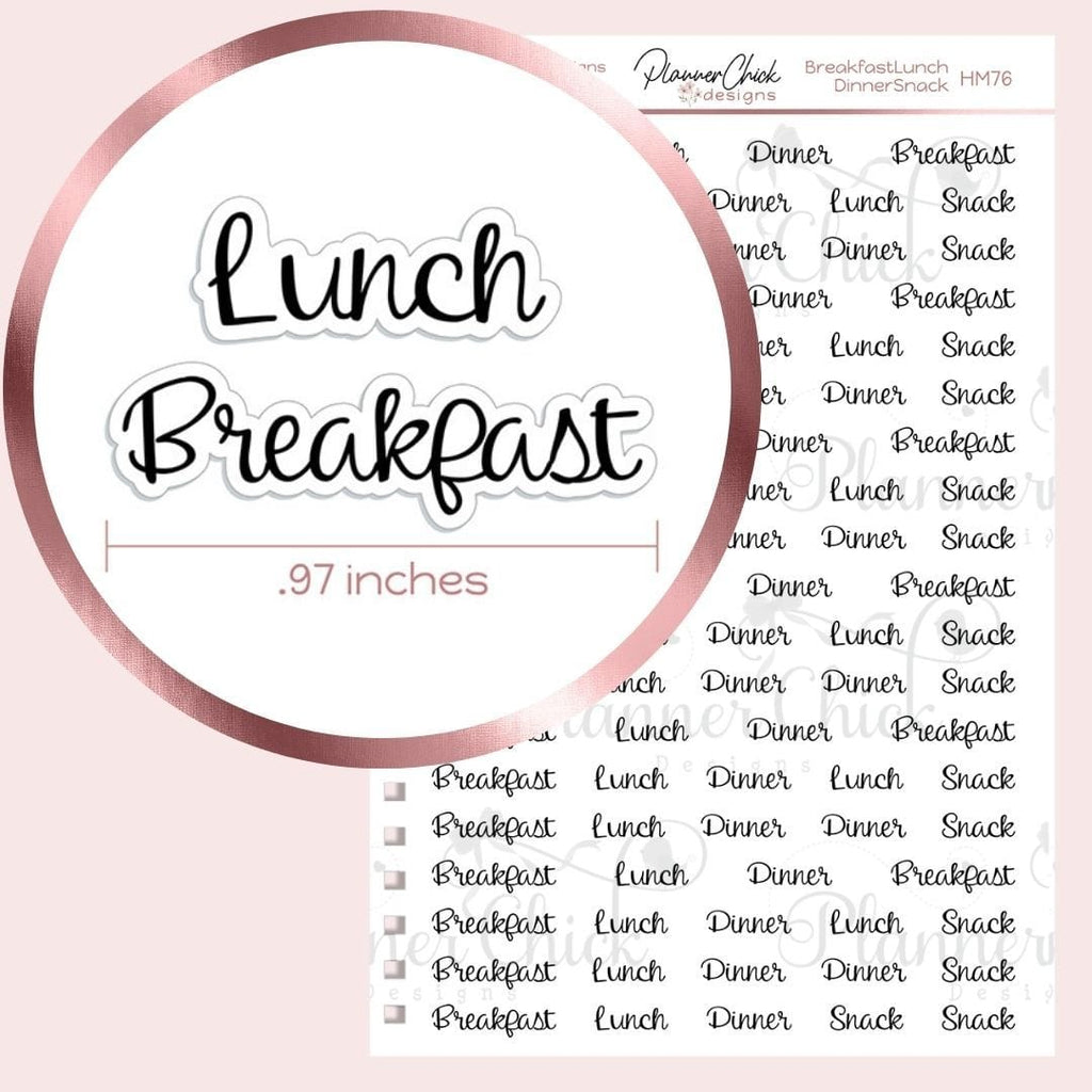Breakfast, Lunch, Dinner & Snack Planner Stickers