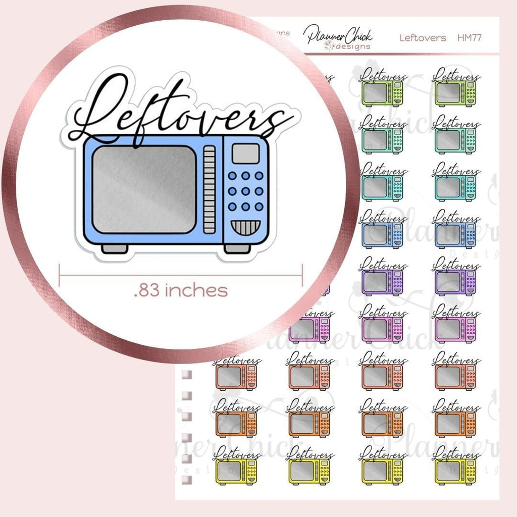 Leftovers Planner Stickers