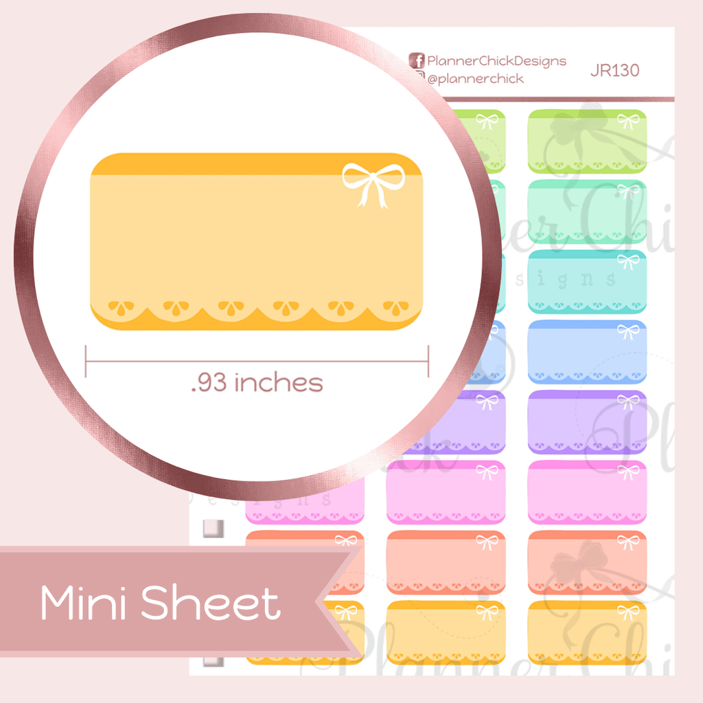 Mini Stickers ~ Lacey Boxes