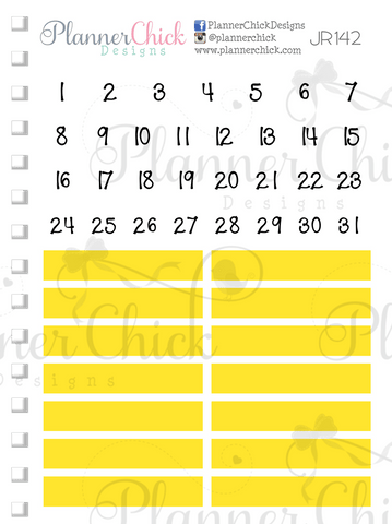 Date Dots & Headers ~ Yellow
