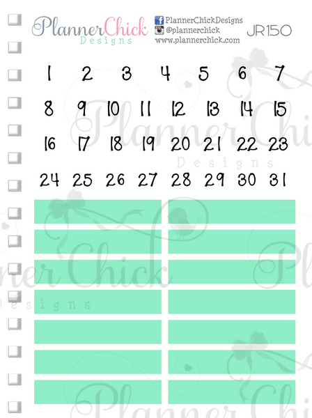 Date Dots & Headers ~ Mint