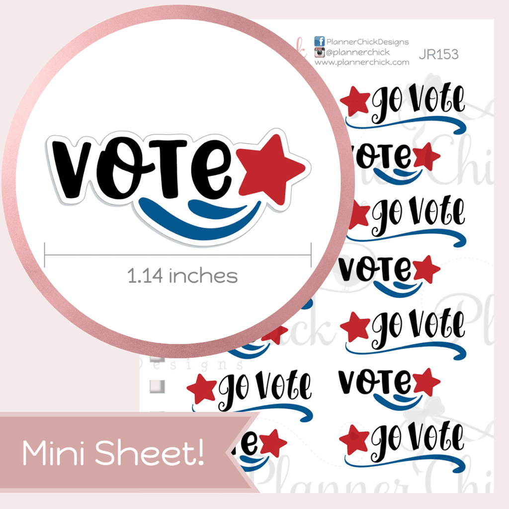 Vote Planner Stickers