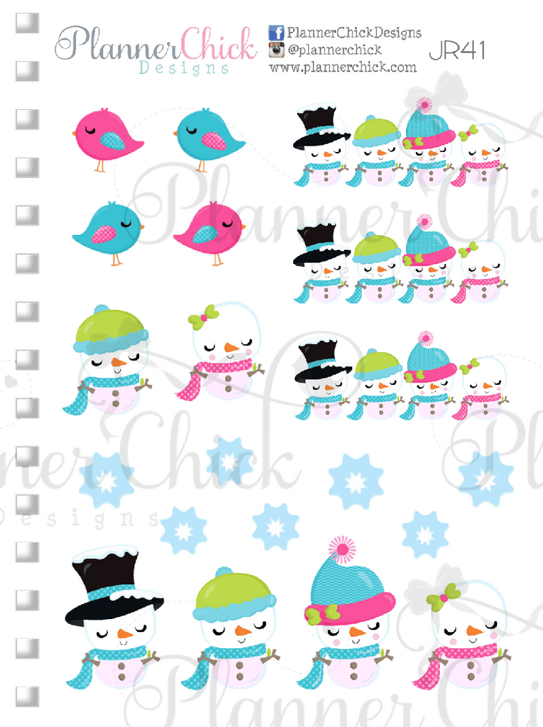 Deco Sampler ~ Snowman Cuties