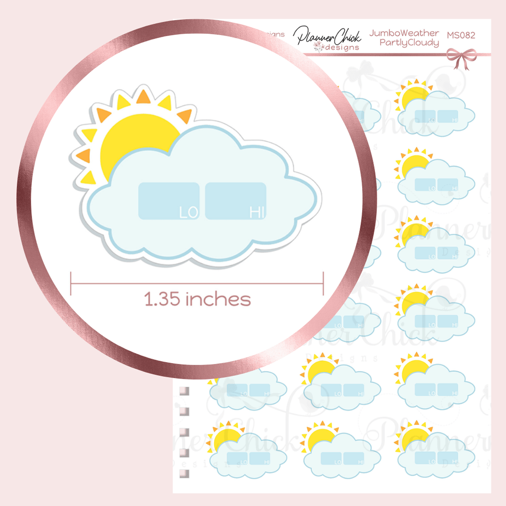 Jumbo Weather Stickers