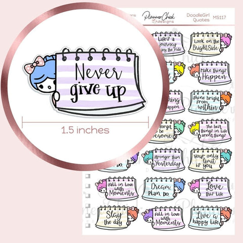 Doodle Girl ~ Inspirational Quotes