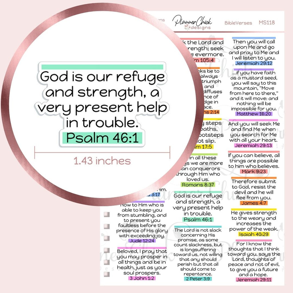 Bible Verse Planner Stickers