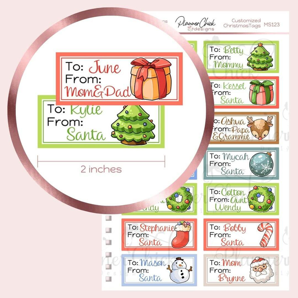Cutomized Christmas Gift Tags