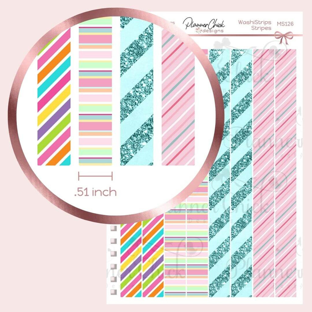 Washi Strips & Date Covers ~ Striped