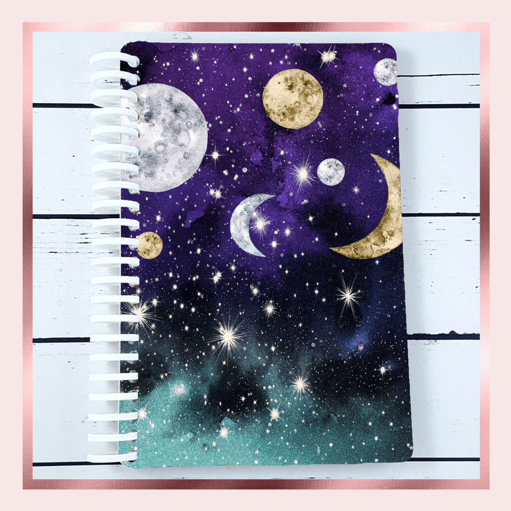 Galaxy Moon Sticker Book