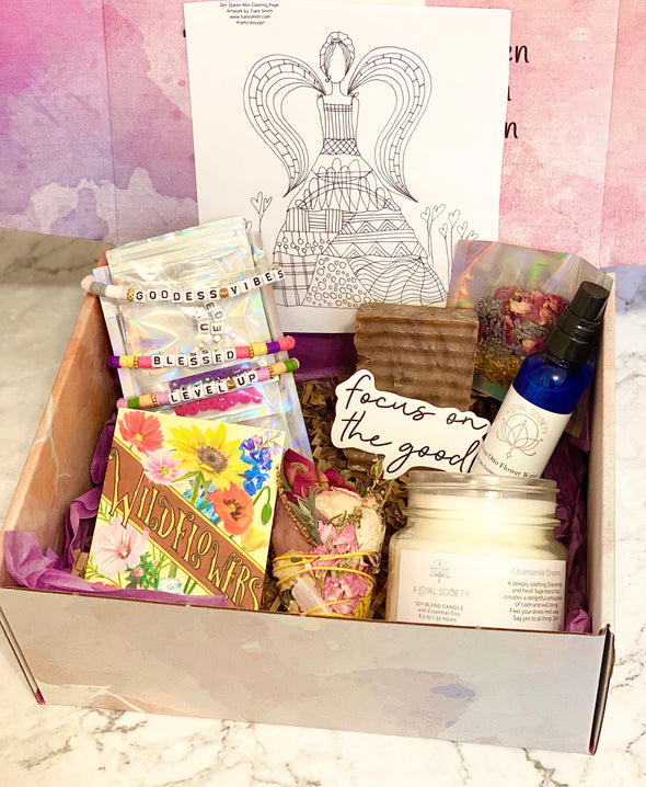 self care and craft box image of self care essentials and do it yourself crafts
