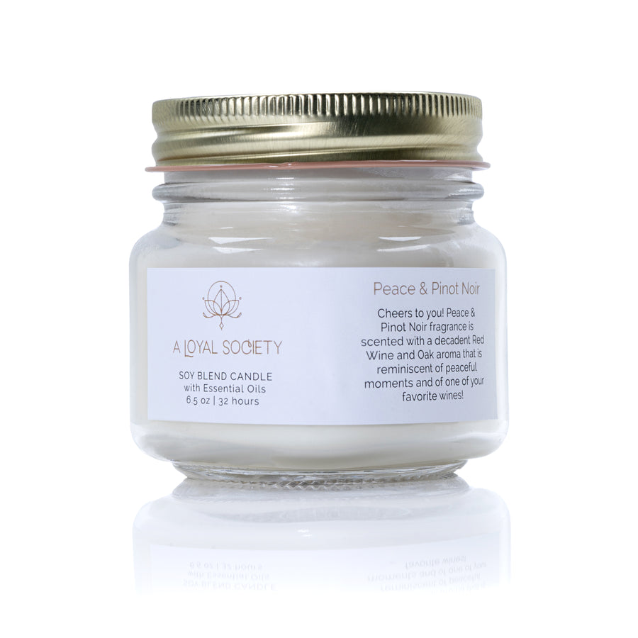 Peace and Pinot Noir Relaxation Candle