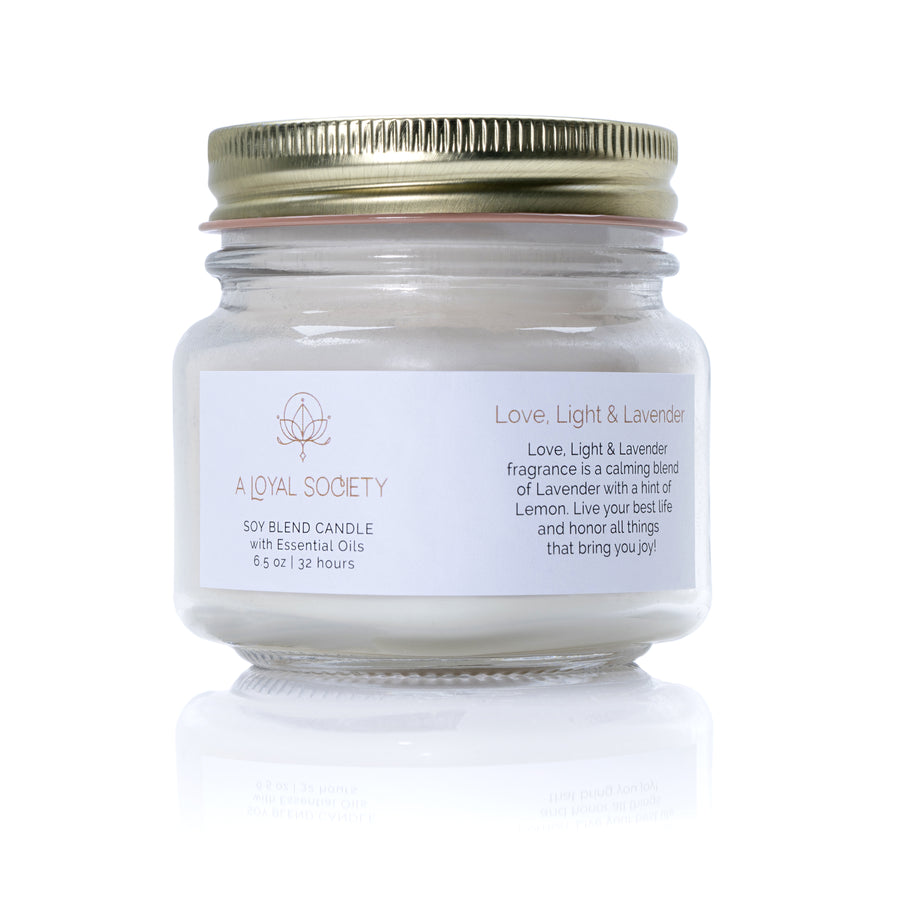 Love, Light & Lavender Relaxation Candle