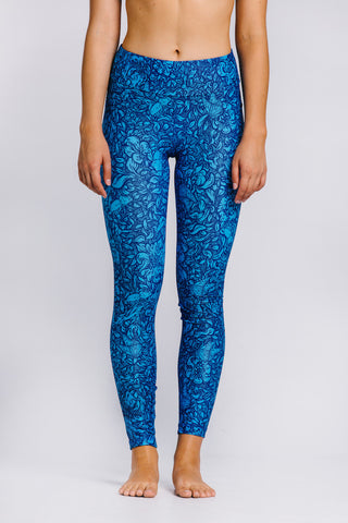 Full Length Legging - Foliage Blue - Shawn Lu