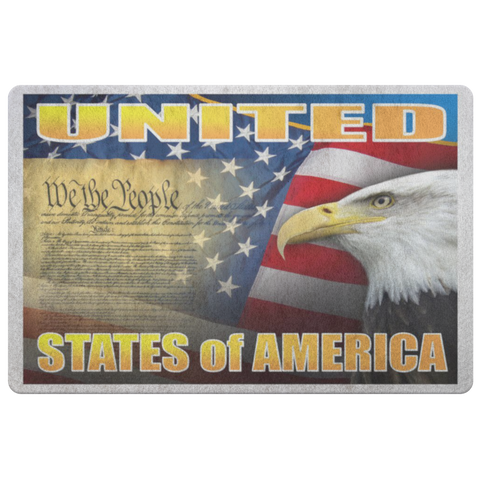 "UNITED STATES of AMERICA ""CUSTOMIZED"" WE THE PEOPLE DOORMAT"