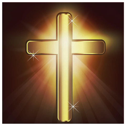 GOLDEN CROSS - CANVAS ART