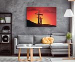 SUNSET HEAVENLY CROSS - CANVAS ART